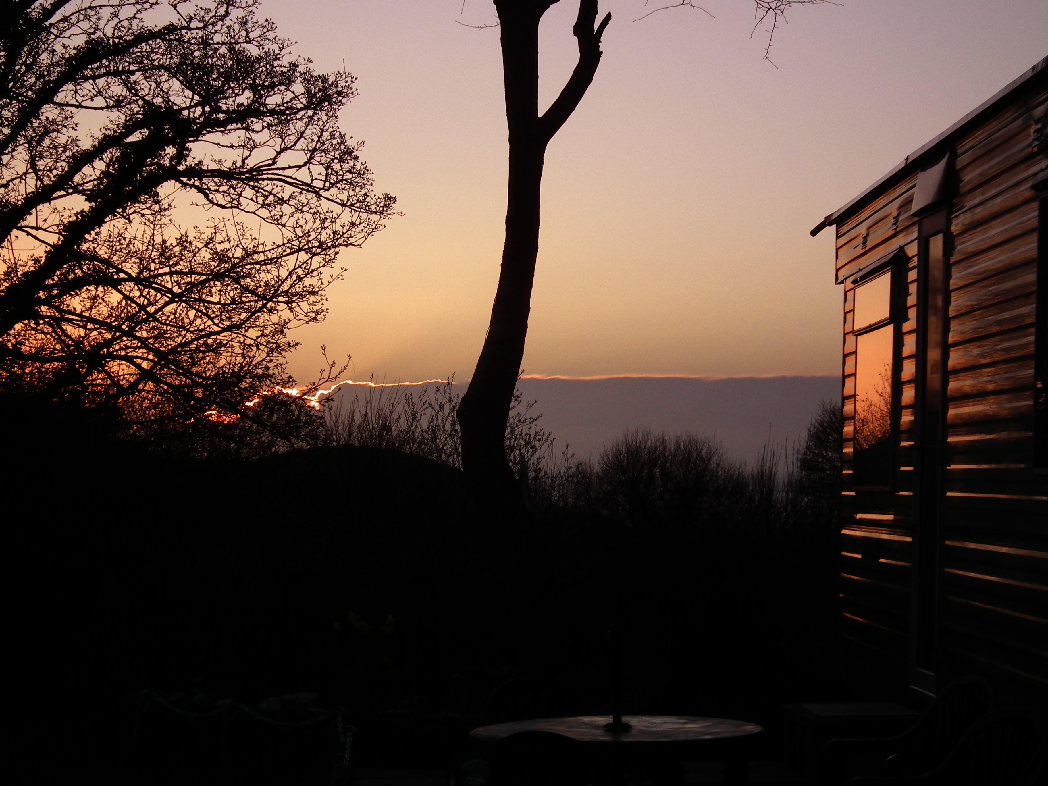 sunset at Maes Glas