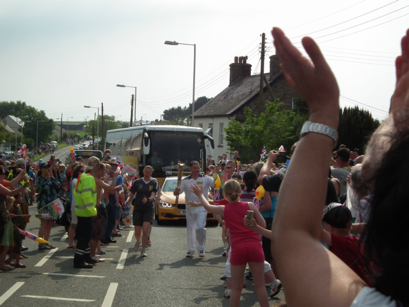 May 2012 The olympic torch comes to Sarnau