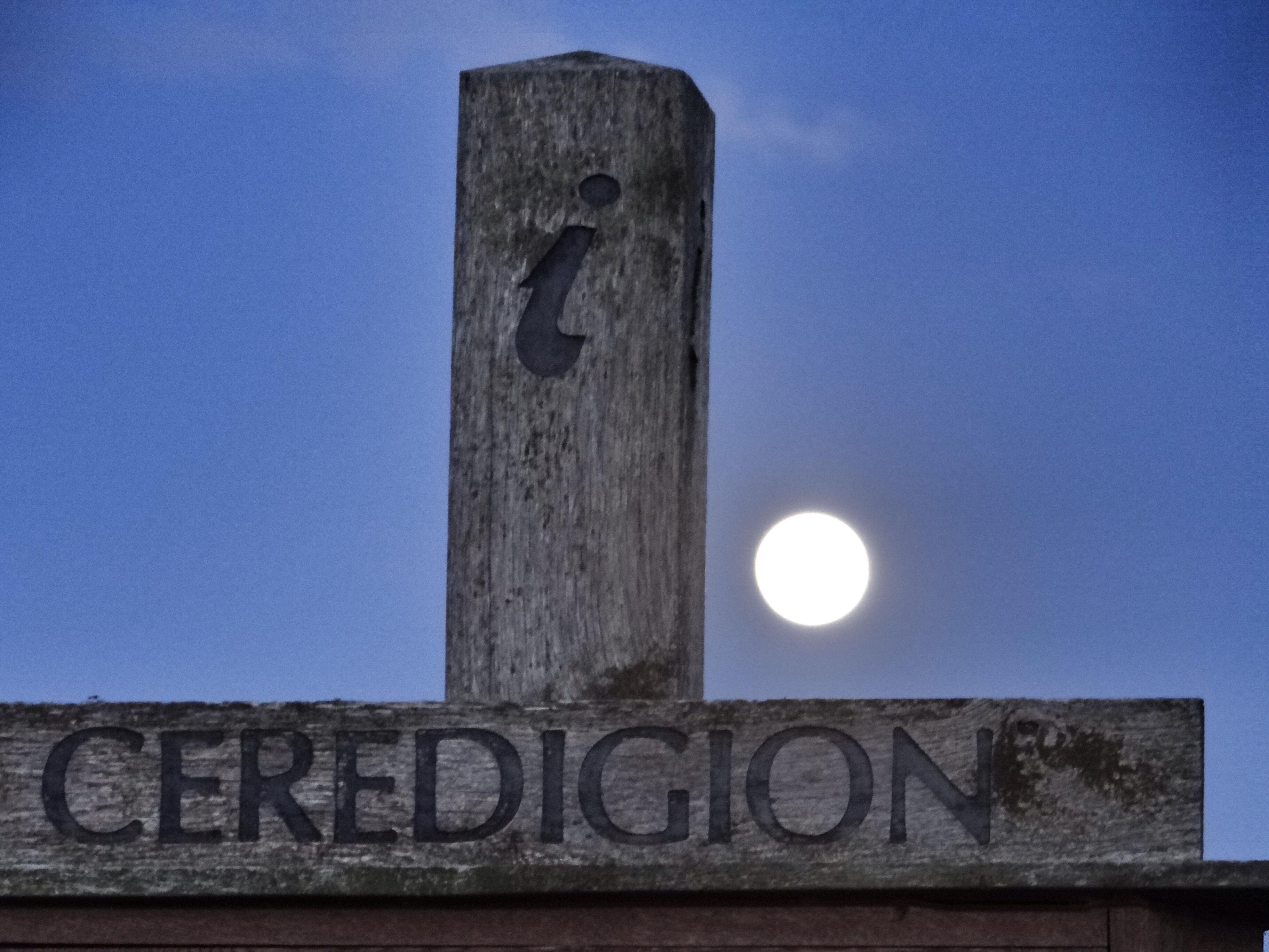 Moon rise over ceredigion Fiona Balchin