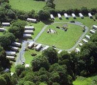 Aerial View of Award Winning Caravan Park