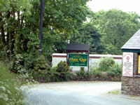 Entrance to Maes Glas Caravan Park West Wales